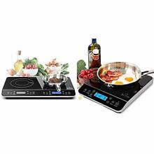 Duxtop LCD Portable Double Induction Cooktop 1800W Digital Electric   Portabl