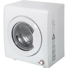2 65 Cu Ft Laundry Dryer 9 LBS Capacity Compact Tumble Dryer 1400W Drying Power