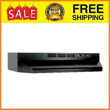 Ductless Range Hood Insert with Light Exhaust Fan Under Cabinet 30 Inch Black