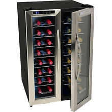 French Door Dual Zone Wine Refrigerator  EdgeStar Stainless Steel Fridge Cooler