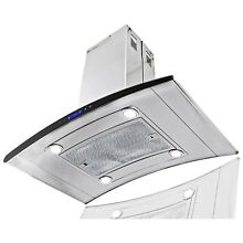 36  KITCHEN STAINLESS STEEL ISLAND MOUNT RANGE HOOD STOVE VENT w  GREASE FILTER