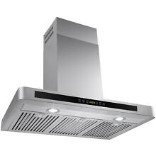 36  STAINLESS STEEL RANGE HOOD w  3 Baffle Filters  TOUCH SENSITIVE BUTTONS