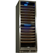 155 Bottle Dual Zone Wine Refrigerator  Built In   Free Standing Compact Cooler