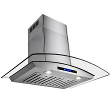 30  KITCHEN STAINLESS STEEL GLASS WALL MOUNT VENT  RANGE HOOD W  REMOTE