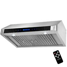 36  Under Cabinet Stainless Steel LED Range Hood Kitchen Vent w  Remote Control