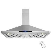 48  Stainless Steel Wall Mount Touch Control Range Hood Kitchen Vent Fan