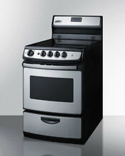 Summit Appliance Summit 24  Free standing Smooth Top Electric Range
