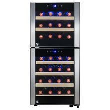 33 Bottle Dual Zone Freestanding Electric Wine Cooler Refrigerator w  Compressor