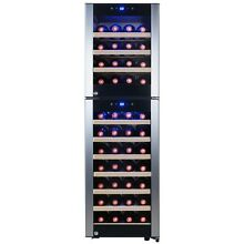 53 Bottle Dual Zone Compressor Electric Wine Cooler Refrigerator Touch Control