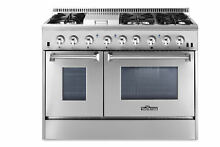Thor Kitchen 48  Drop in Dual Fuel Range with Griddle