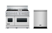 Viking 7 Series 48  Dual Fuel Range   FREE Dishwasher   VDR7486GSS