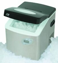 SPT Sunpentown  IM 101S  Portable Ice Maker w  Digital Controls Stainless Steel