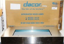 Dacor IHL36 Stainless Steel Integrated 36  Hood Liner