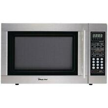 Magic Chef MCD1310ST Countertop Microwave Stainless Steel  Metallic 1 3 Cu ft