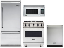 Viking Stainless Kitchen Package  36  Refrigerator  Range  Micowave  Dishwasher