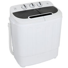 Durable White Washer Machine   Twin Tub Total 13 lbs   15 minutes Timber Durable