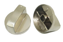 2x Stainless Steel Gas Stove Part Burner Oven Round Knob Rotary Switch Stove