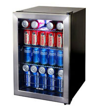 NewAir AB 850 Large Capacity 84 Can Stainless Steel Compact Beverage Cooler