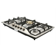 Metawell Brand 30  Stainless Steel 5 Burners Cooktop Built in Natural Gas Cooker