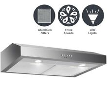 30  Stainless Steel Under Cabinet Range Hood W  LED Light Kitchen Home Appliance