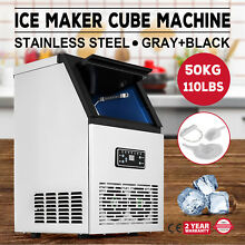 Stainless Steel Commercial Ice Maker Cafes Digital Control Reservation Function