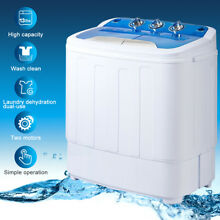 13lbs Portable Mini Washing Machine Compact Twin Tub Washer Spin