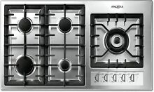 Ancona Ancona 36  Gas Cooktop with 5 Burners and Wok Pan Support