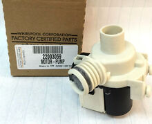 WP22003059 Genuine OEM Whirlpool Washer Neptune Drain Pump Motor 22003059