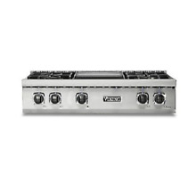 Viking Pro 5 Series 36  Gas Rangetop with 4 Burners and Griddle   VRT5364GSS