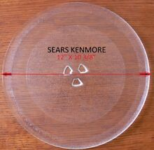 12  Sears Kenmore Microwave Glass Turntable Plate Tray Used Clean Condition