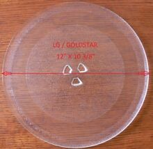 12  LG GOLDSTAR Microwave Glass Turntable Plate Tray Used Clean Condition