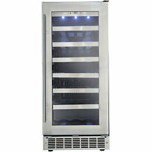 Danby 34 Bottle Silhouette Single Zone Built In Wine Cooler DAN1306