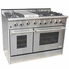 NXR Professional Ranges 48  Free standing Gas Range with Griddle