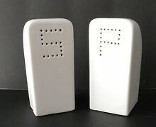 Vintage Chambers Stove Range Oven Salt   Pepper Shakers White Fit Chambers Stove