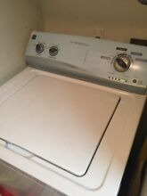 GE White Laundry Pair 27  Top Load Electric Dryer 27  Front Load Washer and 27