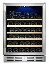 Kalamera 54 Bottle Touch Control Single Zone Built in Wine Cooler