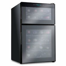 Ivation 24 Bottle Dual Zone Freestanding Wine Cooler
