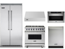 Viking 36in Dual Fuel Range  42in Refrigerator  Dishwasher  Hood