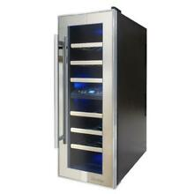 Vinotemp VT 21TSP 2Z 21 Bottle Dual Zone Thermoelectric Mirrored Wine Cooler