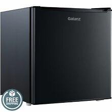 GALANZ 1 7 CU FT  ONE DOOR REFRIGERATOR BLACK New Free Shipping