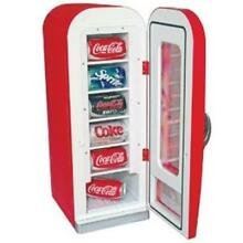 Koolatron CVF18 Retro Coca Cola 10 Can Capacity Vending Fridge