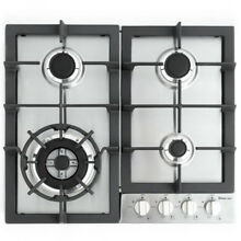 Magic Chef Durable Kitchen Furniture 24  Gas Cooktops 4 Burners Stainless Steel