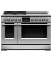 Fisher Paykel 48  Stainless Pro Style Duel Fuel Range 8 Burners   RDV2 488N