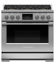 Fisher   Paykel 36  Stainless Pro Dual Fuel Range with Griddle    RDV2 364GDN