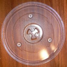 10 1 2  OSTER GAEMU1000P23 Clear Microwave Replacement Plate Used Clean