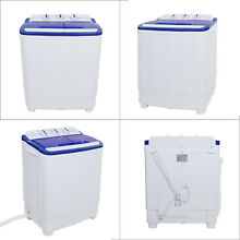 Top Load Washing Machine Compact Twin Tub 16lb Washer Spin   Dryer  White