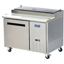 ARCTIC AIR SINGLE DOOR REFRIGERATED PIZZA PREP TABLE STAINLESS STEEL APP48R