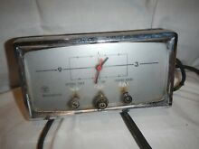 Vintage Westinghouse Stove Oven Clock Timer with Black Knobs