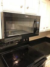 Whirlpool Over The Range Microwave   Model WMH31017FB   Never Used   Black