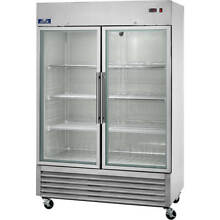 ARCTIC AIR COMMERCIAL GLASS DOOR REFRIGERATOR  DOUBLE DOOR  49 CU FT AGR49